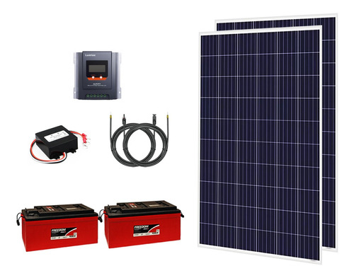Kit Off Grid 2x Painéis 280w + 2x Baterias 240 Ah + Mppt 30a