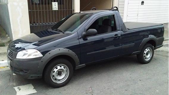 Fiat Strada Motor 1.4 Ano 2013 Azul 2 Portas