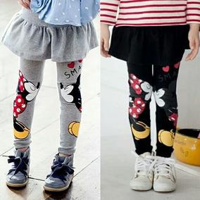Falda Legging Minnie Mickey Mouse Algodón-brujitas Store
