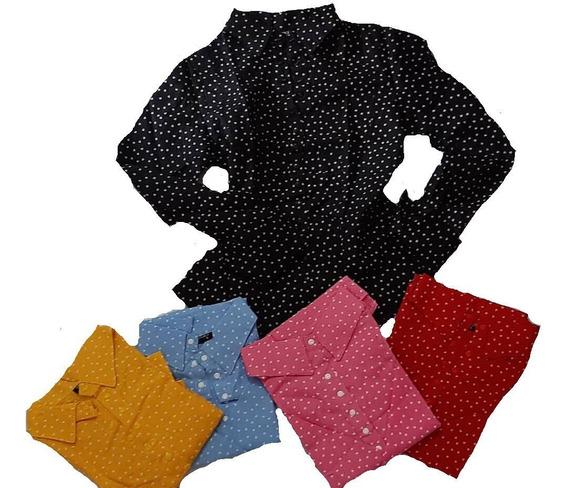 Camisas Para Dama De Vestir Manga Larga Estampadas Corazon