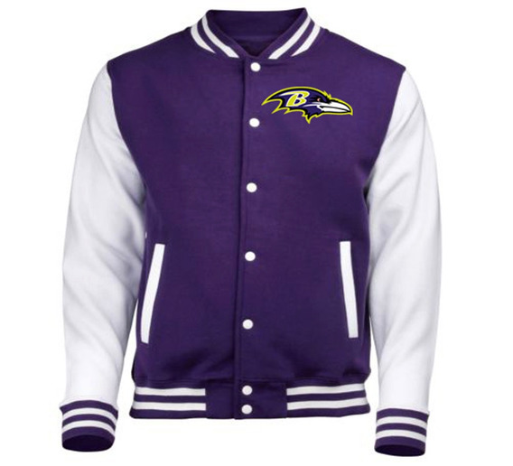 Baltimore Ravens Jaqueta College Bordado Pronta Entrega !!