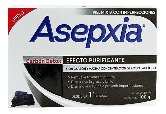 Asepxia Jabón Carbón Detox 100g.
