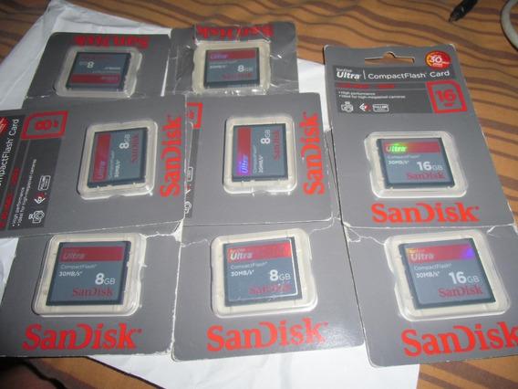 Memorias Sandisk Ultra Compact Flash 30mb/s* 16gb Y De 8gb