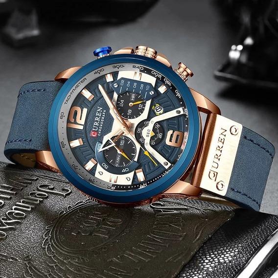 Relógio Masculino Executivo Luxo Curren 8329 Original Envio Imediato