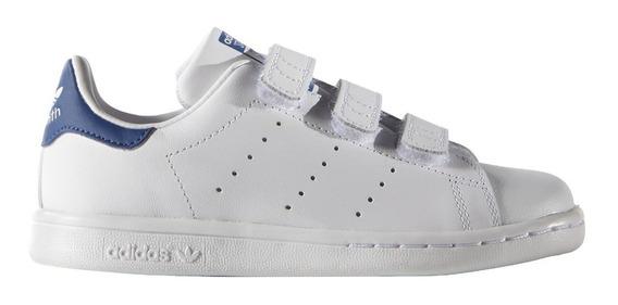 Tenis adidas Niños Blancos Azul Stan Smith C Bb0694