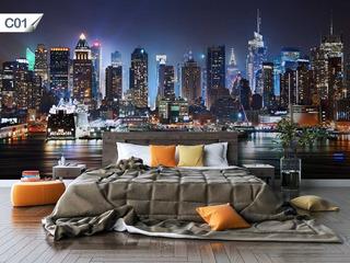 Adesivo Papel Parede Cidades Prédio Lavável Nova York - C01