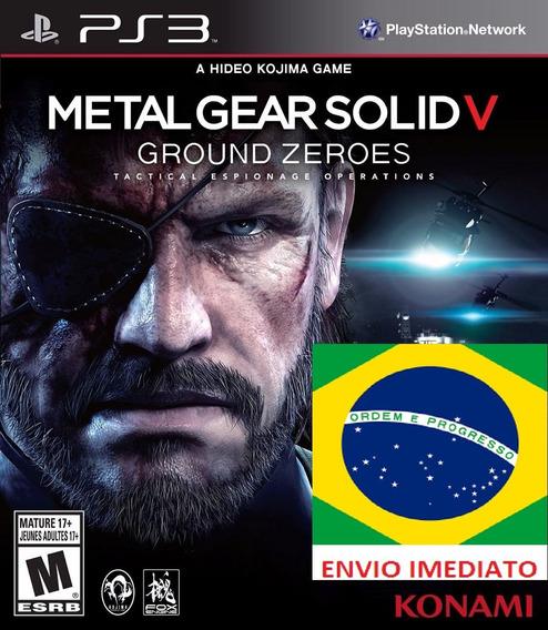 Metal Gear 5 Ground Zeroes Portugues Ps3 Psn - Midia Digital