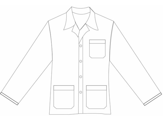 Jaleco Curto M L Masculino Oxford Branco Plus Size Especial