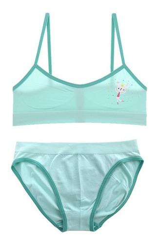 Conjunto Top Y Calzón Bikini Niñas Cn22676-72676