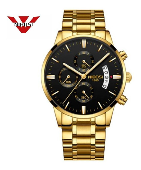 Relógio Masculino Nibosi Quartzo Modelo 2309 Blindado