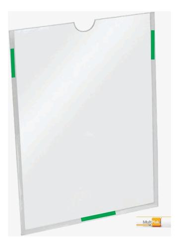10 Display Suporte Folha A4 Em  Acrílico Para Parede