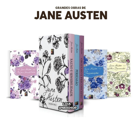 Box Grandes Obras Jane Austen 3 Volumes - Novo Lacrado