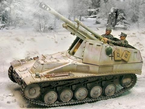 Tanque Militar Sd.kfz 124 Wespe 1943 Miniatura