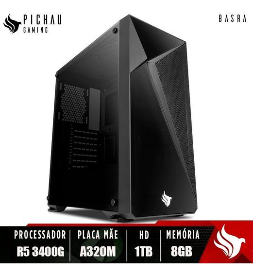 Pc Gamer Pichau Basra, Ryzen 5 3400g, A320m, 8gb Ddr4, Hd1tb