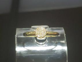Anel Chuveiro De Ouro Amarelo 18k Com 20 Diamantes Naturais