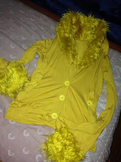 Saco Amarillo Extravagante