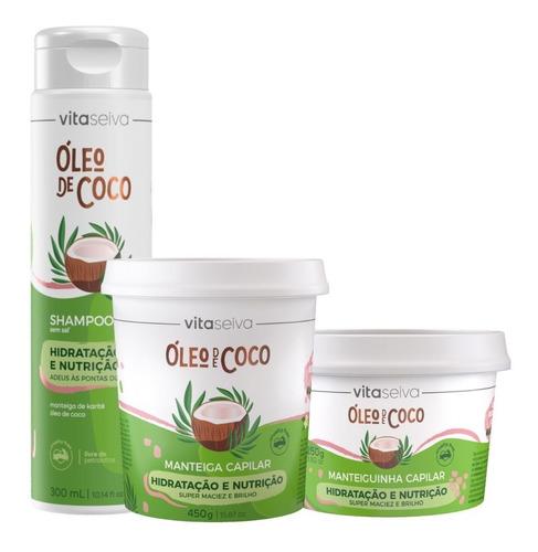 Imagem 1 de 4 de Kit Oleo De Coco Lançamento Vita Seiva