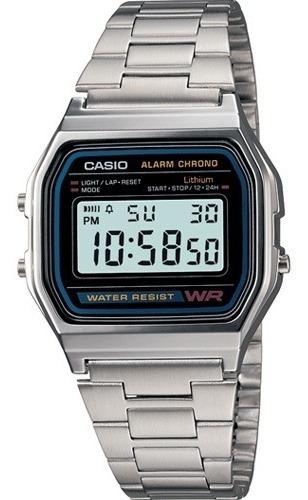 Reloj Casio A158wa Unisex  Retro Plateado / Lhua Store