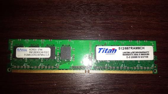 Memoria Ram Ddr2 512mb 667mhz Titan Pc 512/667ram8ch