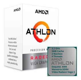 Processador Athlon 3.2ghz + Mb A320 + 4gb Mem Ddr4 2666mhz