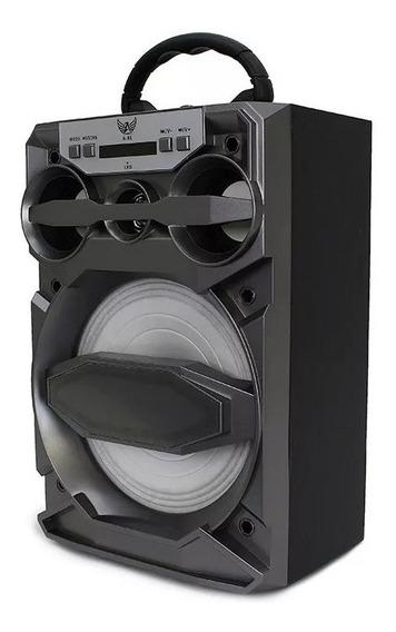 Caixinha Som Portátil Bluetooth A-81 Ltomex 15w Aux Radio Fm