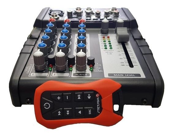 Mesa Som Automotivo Stetsom Stm1003 Usb Bluetooth +controle