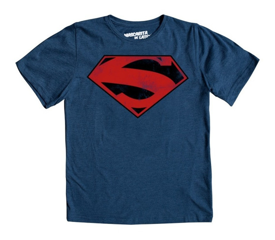 Playera Mascara De Latex Superman New 52 Logo Mldc Niño
