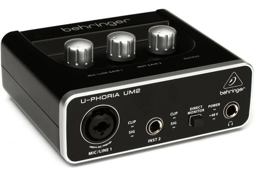 Placa De Audio Behringer Um2 Con Phantom Monitoreo Directo