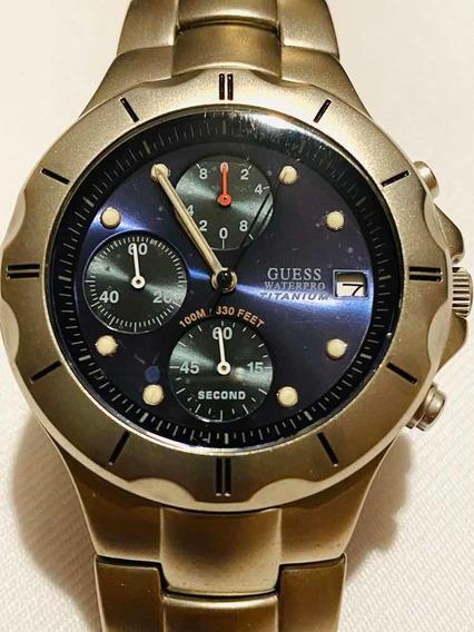Reloj Guess Waterpro Titanium Cronos De Cuarzo