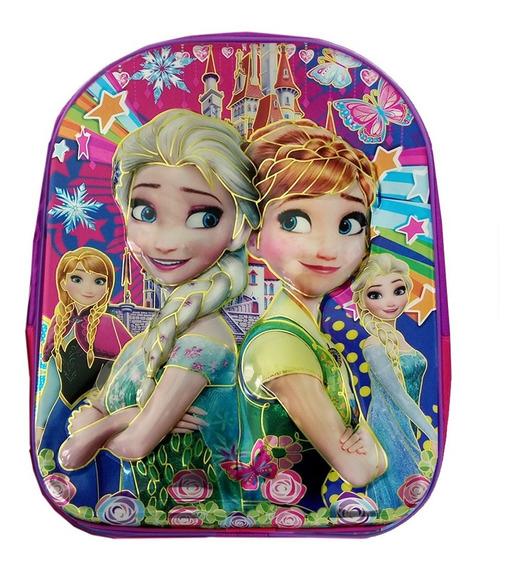 Mochila Escolar Infantil Frozen Olaf Rosa Alto Relevo 3d