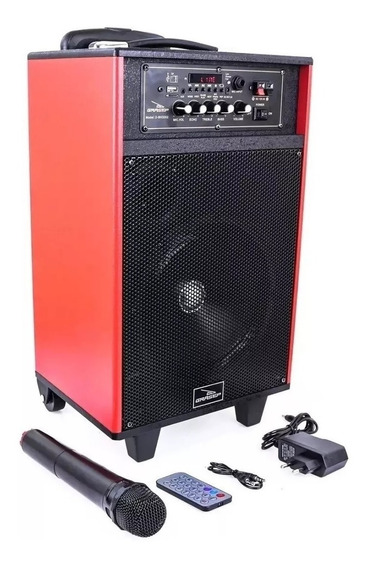 Caixa Som Amplificada Bluetooth+mic Sem Fio Karaokê,usb