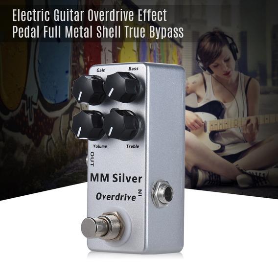 Mosky Mm Prata Guitarra Elétrico Overdrive Efeito Pedal Com