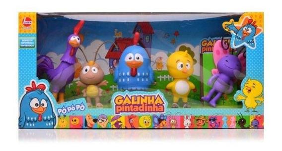 Galinha Pintadinha Mini 5 Bonecos Coleção Família Lider