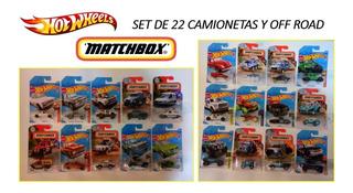 Set De 22 Camionetas Y Off Road. Hot Wheels Y Matchbox