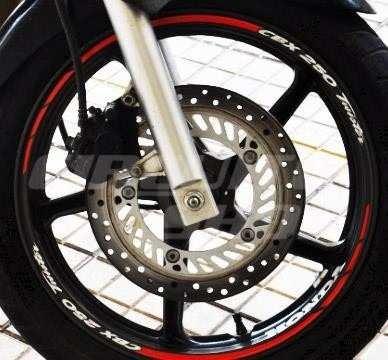 Friso + Adesivo In Roda Refletivo Moto Honda Cbx 250 Twister