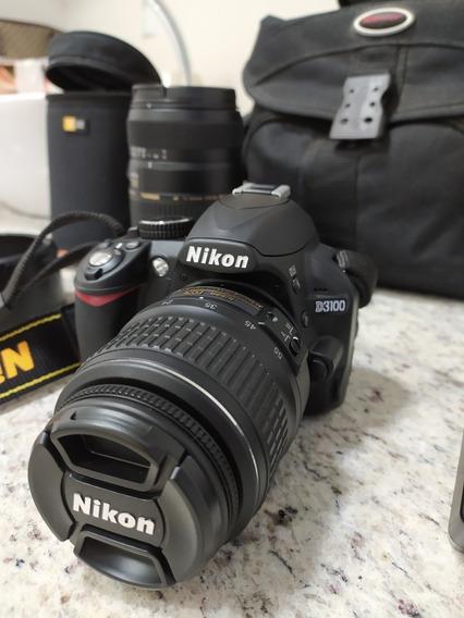 Camera Nikon D3100 + Lente Af 18-55mm + Lente Af 70-300mm