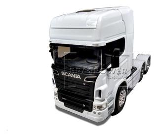 Miniatura Caminhão Scania V8 R730 1/32 Branco