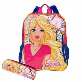 Kit Mochila E Estojo Escolar Infantil Meninas Barbie Sestini