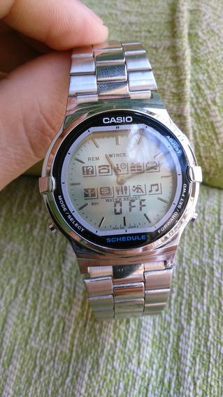 Relógio Casio Abx 210 Twincept Vintage Raro Novo