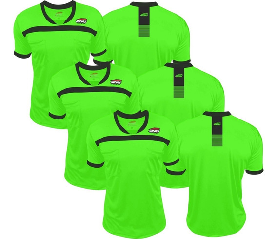 3 Camisas Arbitro Futebol Futsal Verde Limão Ideias Original
