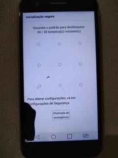 LG K10 32gb Dourado Com Tampa Preta E Com Defeito No Touch