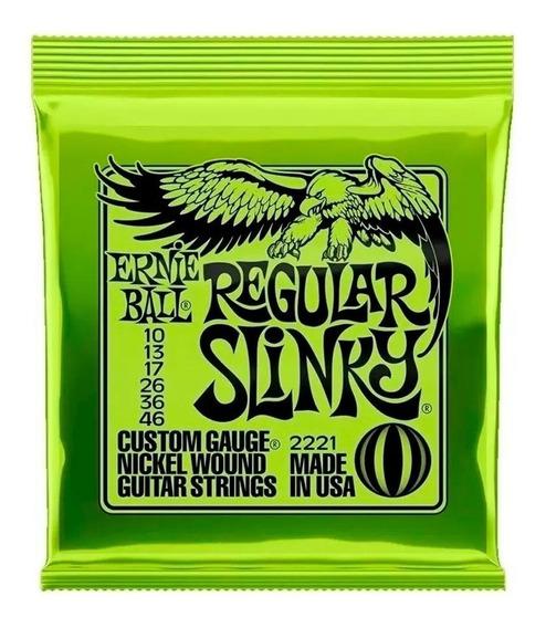 Cuerdas Eléctrica Ernie Ball 010 Encordado 0.10 Regular Slin