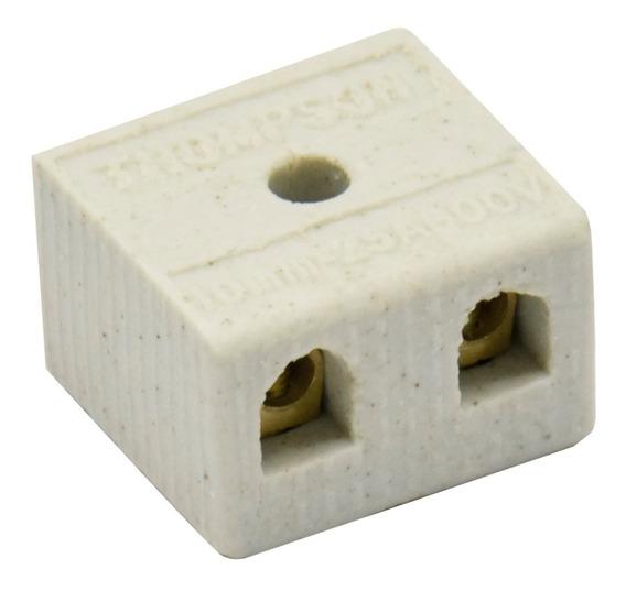 Kit 10 Conector De Porcelana Bipolar 10mm Thompson
