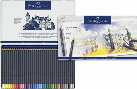 Faber Castell Lapices Goldfaber Box X 36 Caja Metalica