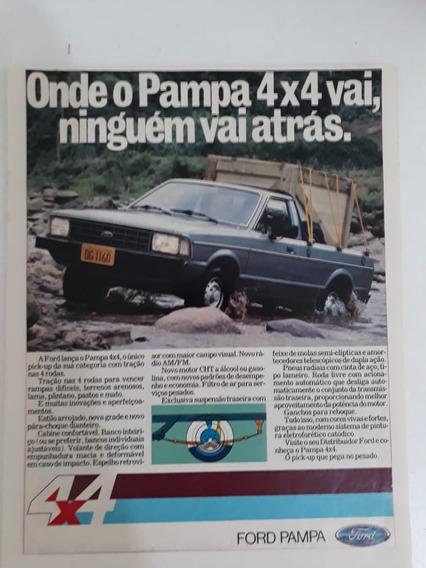 Propaganda Antiga Ford Pampa 4×4 Publicidade