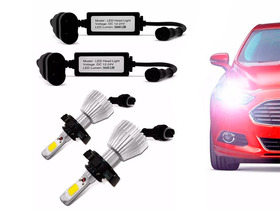Kit Super Led Lampada H4 6000k Super Branca Efeito Xenon