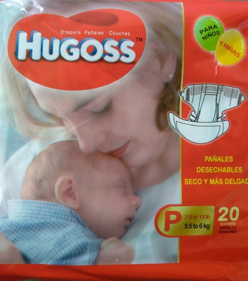 Pañales Ecológicos Desechables Hugoss P M G Xg