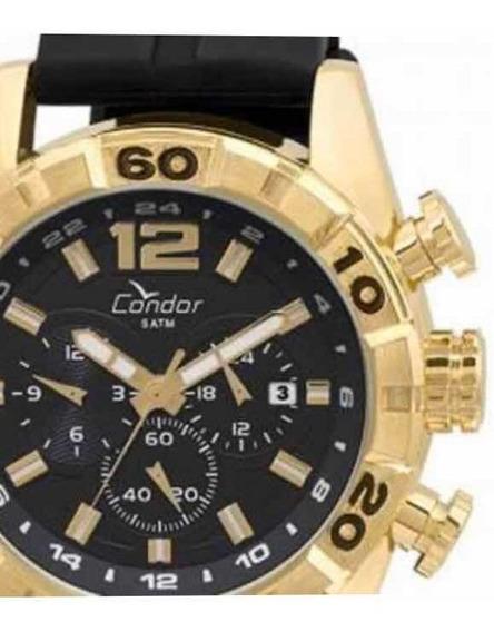 Relógio Condor Masculino Caixa Dourada Original Com Estojo