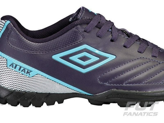 Chuteira Indoor Umbro Footwear Attak Ll - Roxo/azul/branco