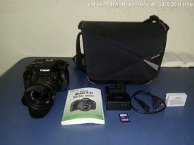 Câmera Canon T3i Rebel Eos 600d + Lente + Case Completa